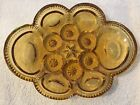 Moon and Stars 8 inch Amber Oval Relish Dish