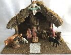 Vintage Sears Nativity Set Made In Italy 10 Figures And Manger
