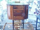 Solid Mahogany Antique Martha Washington Sewing Cabinet Drawers Spool racks