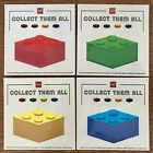 Lego Collect Them All Brick Stickers Complete Set Red Blue Yellow Green New