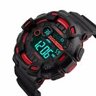 Mens Waterproof Digital Sports LED Quartz Wrist Watch Time Date Alarm Stopwatch