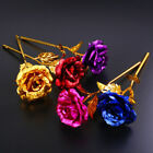 24k Gold Plated Golden Rose Flowers Anniversary Mothers Day Girlfriend Gift