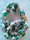 CHINESE PORCELAIN BEADS NECKLACE WITH DRAGON DESIN