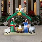 7 NATIVITY JESUS STABLE CHRISTMAS ANGEL SCENE Airblown Inflatable Yard Decor