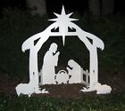 PVC Nativity Scene Large Outdoor Silhouette Figures Yard Lawn Sets for Christmas