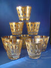 Set of 8 Signed CULVER Gold 8oz Rocks / Lo-Ball Mid-Century Glasses