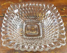 CRYSTAL CLEAR GLASS DIAMOND POINT PATTERN NUT CANDY DISH BOWL