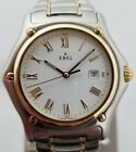 EBEL 1911 SPORT CLASSIQUE MENS 36MM 18K/SS QUARTZ WATCH WITH BOXES AND PAPERS!