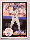 1990 Starting Lineup Juan Samuel Mets Baseball Card