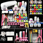 Professional Acrylic Colors Powder UV Gel Kit Crystal Nail Art Set 9W Mini Lamp