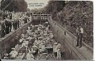 RARE EARLY VINTAGE  POSTCARD,ANIMATED,BOULTER'S LOCK,RIVER THAMES,BERKSHIRE,1908