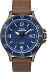 Timex TW4B10700 Men's Expedition Ranger Indiglo Leather Band Blue Dial Watch