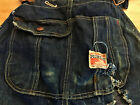 Vtg 1920 30s vintage Pioneer overalls destroyed barn work chore trashed denim