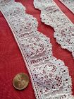 French Antique Lace Alencon Trim  2 yards +10