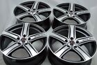 4 New DDR ZK02 17x7 5x1143 40mm Black Machined Wheels Rims