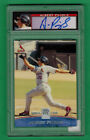 2001 TOPPS RESERVE ALBERT PUJOLS AUTO ROOKIE RC UNCIRCULATED 122 1500 PSA 8