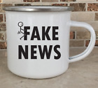 Camping Cup Camper Mug Stainless Steel Coffee Tea 11oz Fake News Custom Funny