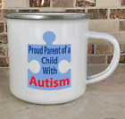 Camping Cup Camper Mug Stainless Steel Coffee Tea Proud Parent of a Child Autism