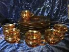 Indiana Amber Kings Crown Thumbprint 12pc Snack Set