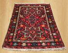 VGDY Authentic Hand Knotted Antique Persian Heriz Wool Area Rug 3 x 2 (4801)