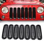 Upgrade Version Clip on Honeycomb Front Grille Inserts For Jeep Wrangler JK JKU