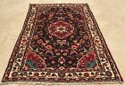 Authentic Hand Knotted Persain Hamadan Oriental Wool Area Rug 5 x 4