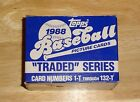 Topps 1988 Traded Series Baseball Cards. Complete Set.