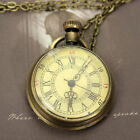 Antique Style Ornate Steampunk Glass Dome Pocket Watch Necklace Accessorie Gift