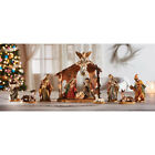 12 Pieces Nativity Scene 425 Figures with Stable Gift Boxed