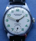 MINT NOS KIENZLE MARKANT Cal 51 CP/SS mens watch -1950/60's + new leather strap