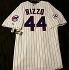 Authentic! Majestic 52 2XL, CHICAGO CUBS PINSTRIPE ANTHONY RIZZO ON FIELD JERSEY