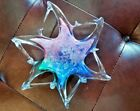 Murano Art Glass Twisted Webbed Star Fish Bowl Italy Sculpture