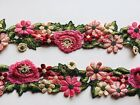 Floral Embroidered Border Ribbon Lace Trim for Sewing Crafts Bridal 25 Wide
