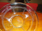 Vintage FIRE KING Vegetable Fruit Bowl 10 inches Fluted Rim Pressed Glass