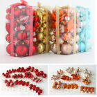 50 Pcs Christmas Glittering Balls Bauble Xmas Tree Hanging Decor Party Ornaments
