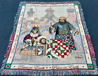 Jim Shore Christmas Nativity Peace on Earth Tapestry Afghan Throw