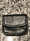 Coach Black Leather Coin Case Bag
