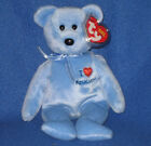 TY I LOVE MASSACHUSETTS the BEAR  BEANIE BABY -  MINT with MINT TAGS