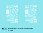 K4 N Decals Virginian and Ohio Boxcar and Hopper White