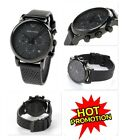 NEW EMPORIO ARMANI AR1737 MENS BLACK DIAL LEATHER STRAP CHRONOGRAPH WATCH UK