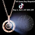 I Love You 100 Languages Light Projection Pendant Necklace Women Jewelry Tik Tok