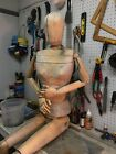 Antique Wooden Mannequin, Articulated joints, body fingers and toes, all working
