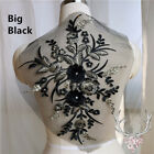 1x Gorgeours Beaded Sequins Lace Applique 3d Flower Patch Motif Costume Wedding