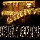 10 100FT Christmas LED Fairy Icicle Curtain Lights Party Indoor Outdoor Decor US