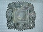 INDIANA CARNIVAL GLASS SMOKE IRIDESCENT DIAMOND POINT SQUARE CANDY DISH