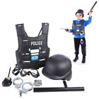 Kids Police Officer Play Pretend Toys Educational Playing Toy Set Cop Cosplay
