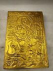 ONE Chinese Royal Palace old golden gold enchase Buddhist Scripture BOOK #6