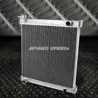 2 ROW DUAL CORE FULL ALUMINUM RACING RADIATOR 97 06 JEEP WRANGLER YJ TJ 24 42L