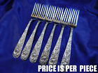 KIRK REPOUSSE STERLING SILVER PLACE FORK - VERY GOOD CONDITION