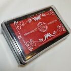 Scrappy Cat Pigment Ink Raised Stamp Pad in True Red Sealed